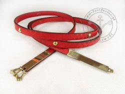 "030C Medieval  belt ""from England"" with mounts"