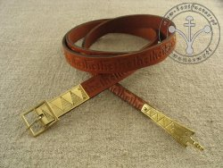 "238C Stamped belt ""from Gdansk""  for 14 - 15th century"