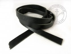 R-22 Leather belt - plain - 2 cm - black