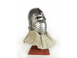 AH-12B Medieval helmet - Klappenvisier - with lining - ready to battle - On Stock