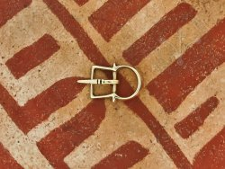 B-071 Small double buckle for garters or shoes