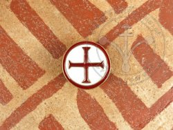 Belt mount with cross - enameled
