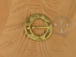 BR-09G Brooch with geometrical ornament GOLD-PLATED