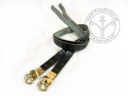G-015.01 Leather garters with stamped decoration