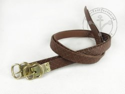 G-015-S Leather garters - stamped