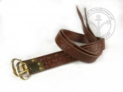 G-135-S Leather garters - stamped