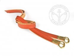 G-135.11M Leather garters - plain - On Stock