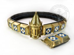 KB 064 Knight Belt with Tower - Enameled - On stock