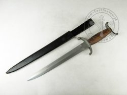 KS-040 Quillion dagger with wooden handle