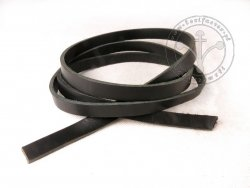 R-04 Leather belt - plain - 1,3 cm - black