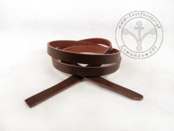 R-08 Leather belt - plain - 1,5 cm - dark brown