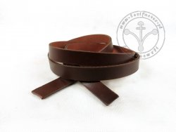 R-20 Leather belt - plain - 2 cm - dark brown