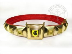 Segmental Knight Belt - Enameled - with custom motiff
