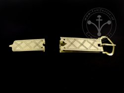 St-11 Buckle and strapend set for 14th-15th cent.