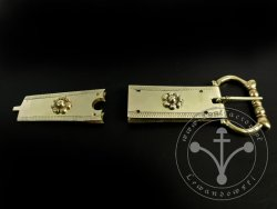 St-15 Buckle and strapend set for 13th cent
