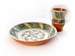 Z-13 Sgraffito pottery set