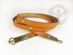036C Medieval belt with mounts for 13-14 cent.