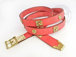 059M Medieval belt with mounts