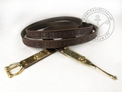 108C Belt with stamped decoration