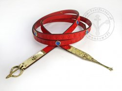 079M Medieval belt with mounts - On Stock