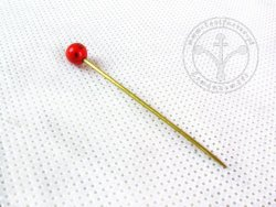 HP-02B Brass pin - with coral