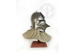 "AH-20.AR Medieval helmet - ""Hundsgugel"" bascinet - with lining - for order"