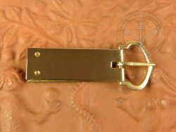 B-140P D-shaped belt buckle - with buckle plate