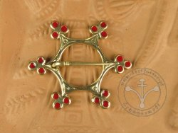 "BR-05E Brooch - ""Star"" RED ENAMELED"