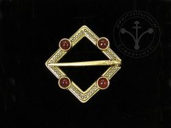 BR-12C Brooch with carnelians