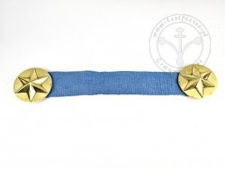 BR-23 Cloak fastener with linen ribbon