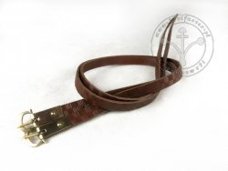 G-014.04M Leather garters with stamped decoration