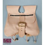 PS-01 Medieval purse with pouches  14th-15 cent. - light brown