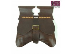 PS-44 Medieval Purse 14-15 cent. - very dark brown