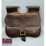 "PS-33A Two-panel medieval purse ""Gaston"" 14-15 cent. - dark brown"