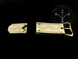St-13 Buckle and strapend set for 15th-16th cent.