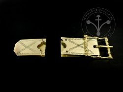 St-17 Buckle and strapend set for 15th-16th cent.