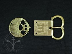 St-30 Buckle and strapend set for 15th cent.