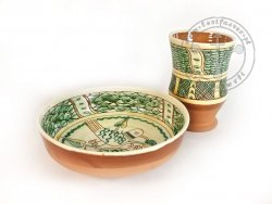 Z-12 Sgraffito pottery set