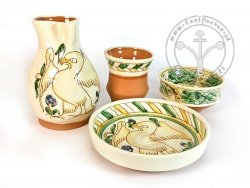 Z-14 Sgraffito pottery set
